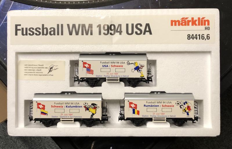 Märklin 84416,6 vagnset Fussball Fotbolls VM 1994 Begagnad fint skick