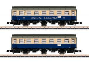 """Märklin 87073 Personvagnar (""""German Wine Road"""") Type WG3yge/WG3yge Nyhet 2020 Förboka ditt exemplar"""