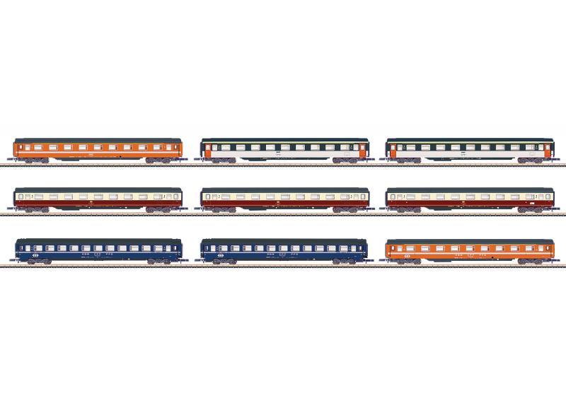 Märklin 87409 Vagnset Display med 9 vagnar Nyhet 2019