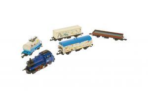 Märklin Z Erbjudande Tågset 3-axlat BR89 ånglok samt 4st godsvagnar