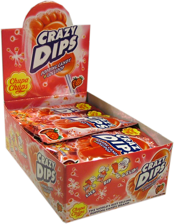 Crazy Dips Strawberry 24-p