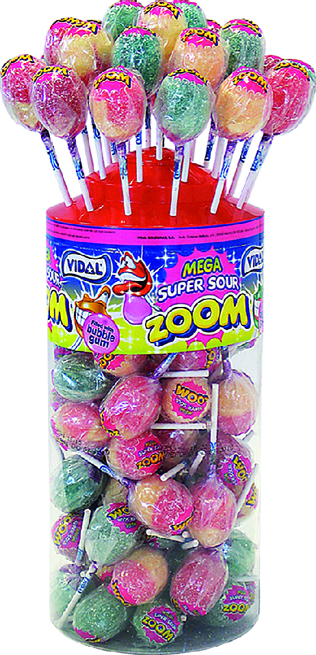 Zoom Lollies Super Sour 50-p