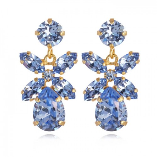 Mini Dione Earring Gold Light Sapphire