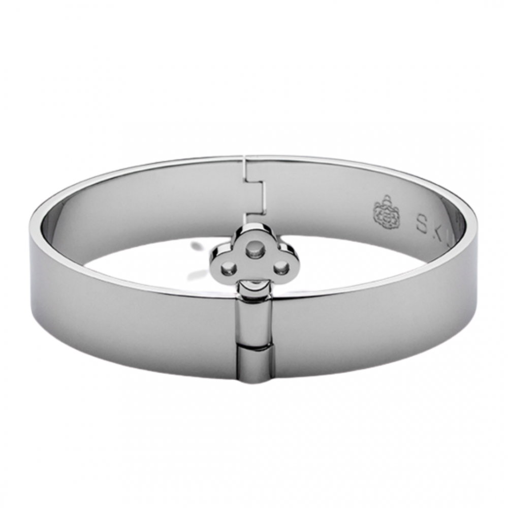 Key Lock Bangle Polished Steel