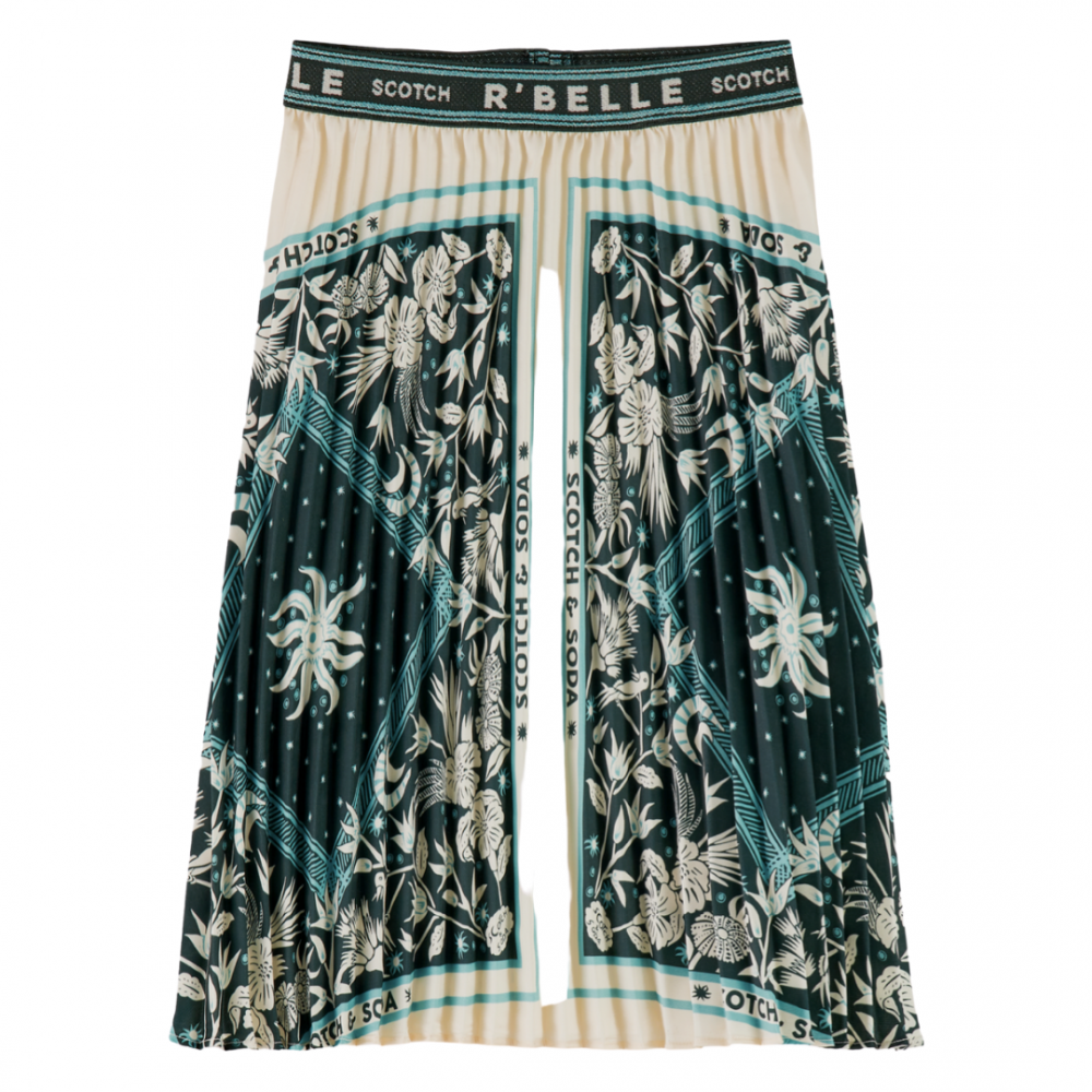 Plissé Skirt With Print