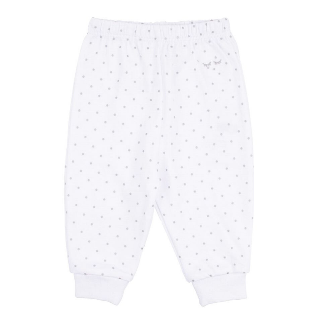 Saturday Pants White/Silver Dots