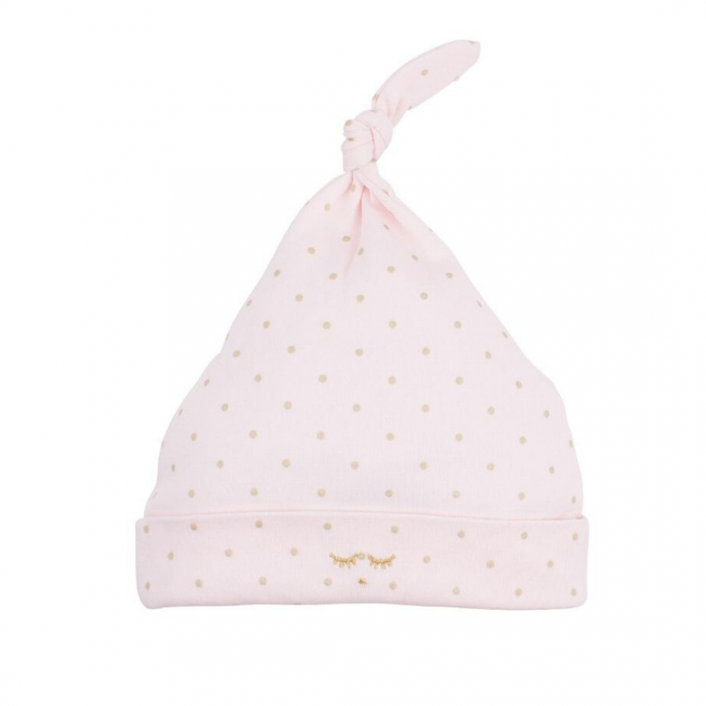 Saturday Tossie Hat Pink Dot