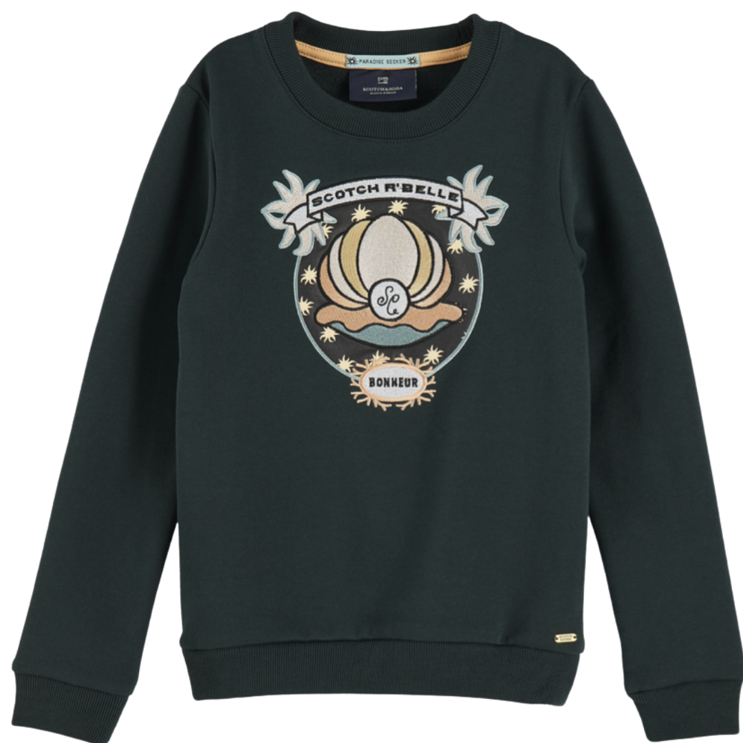 Sweat With Shell Embroidery R'Belle