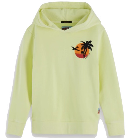 Garment Dyed Hoodie Neon Yellow