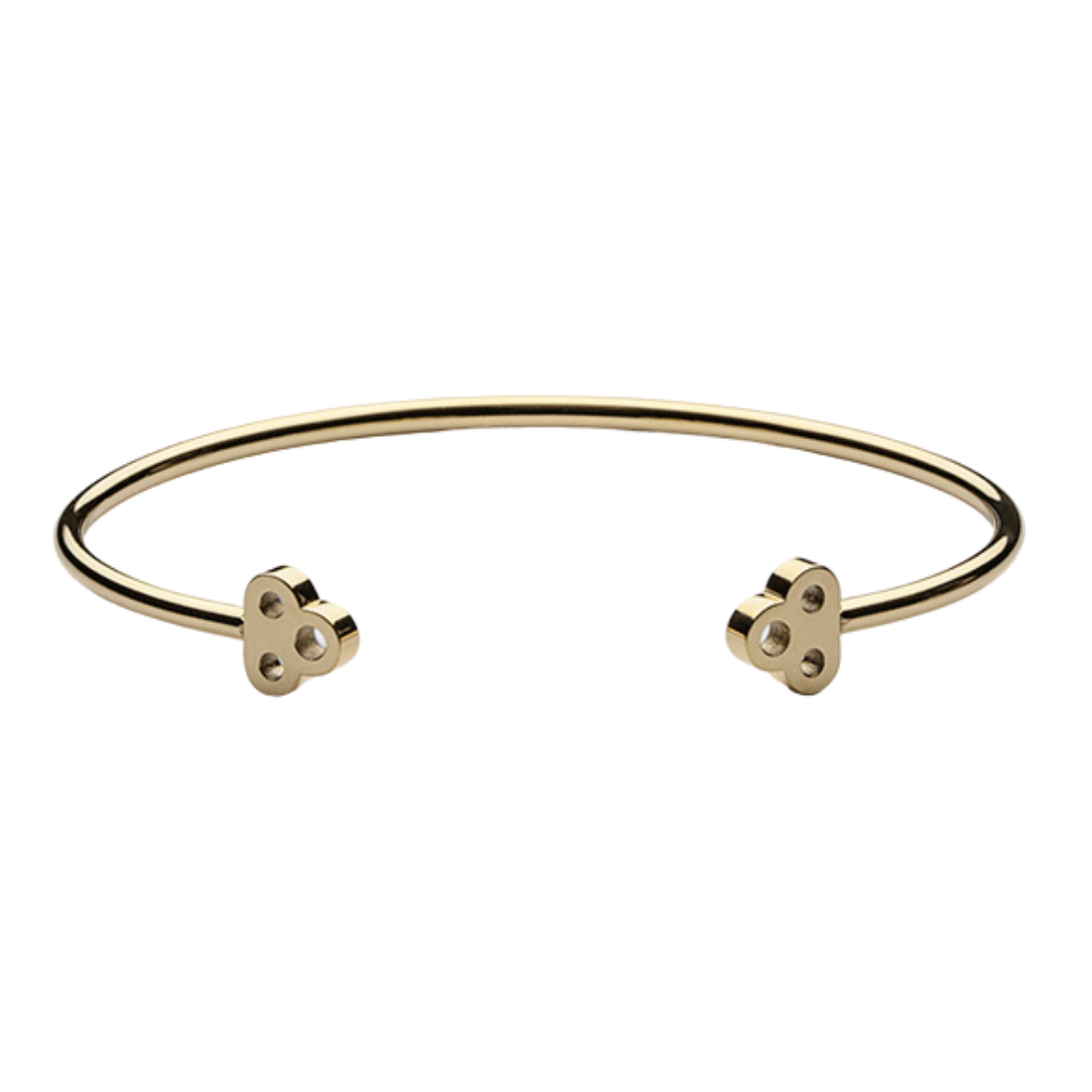 Open Key Cuff Gold Plated