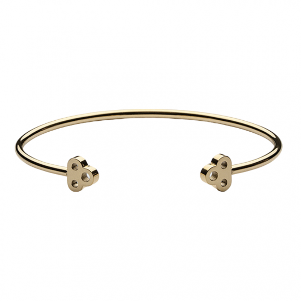 Open Key Cuff Gold Plated Skultuna