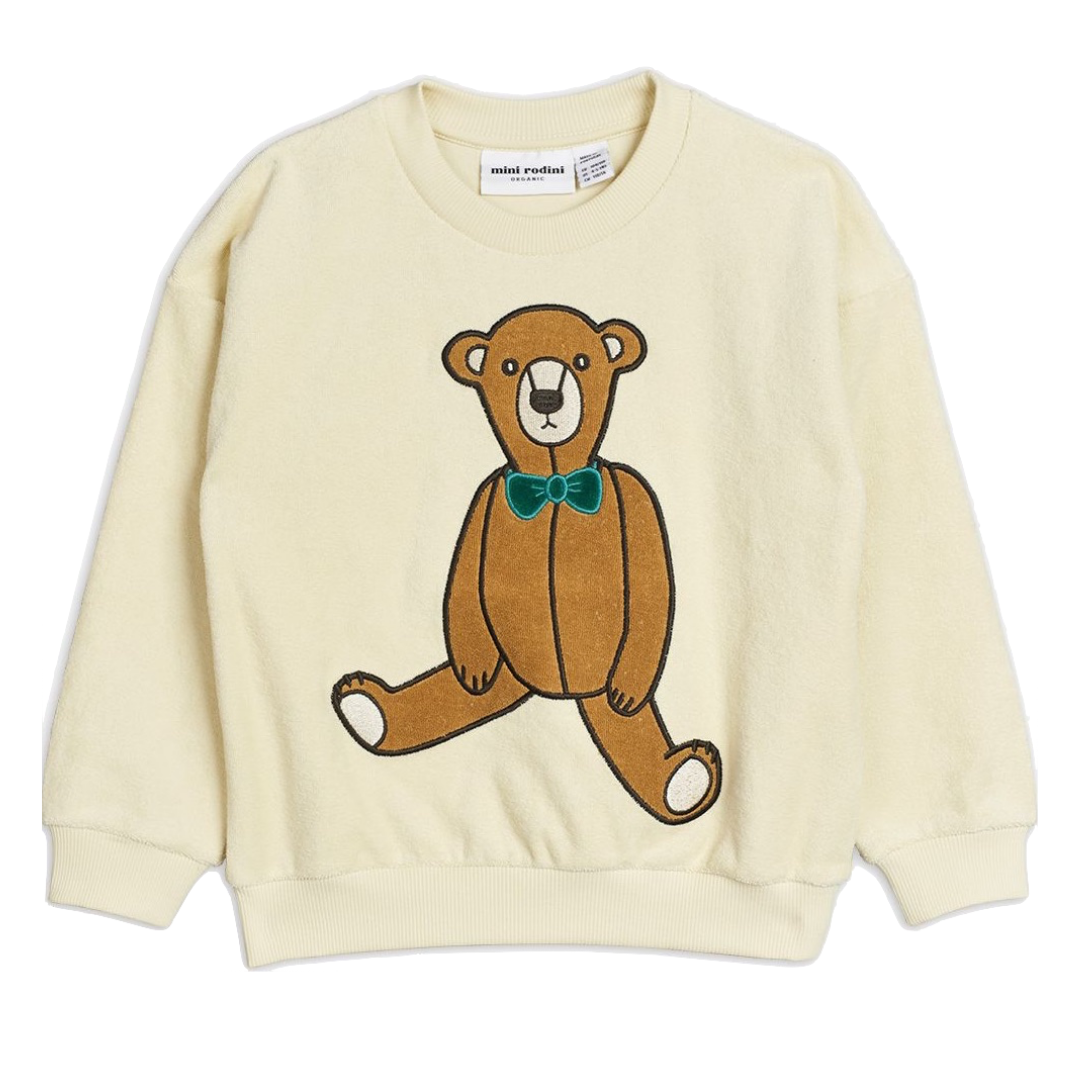 Teddy Patch Terry Sweatshirt Offwhite