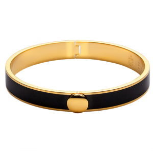Thin Bangle Bracelet Black/ Gold Skultuna
