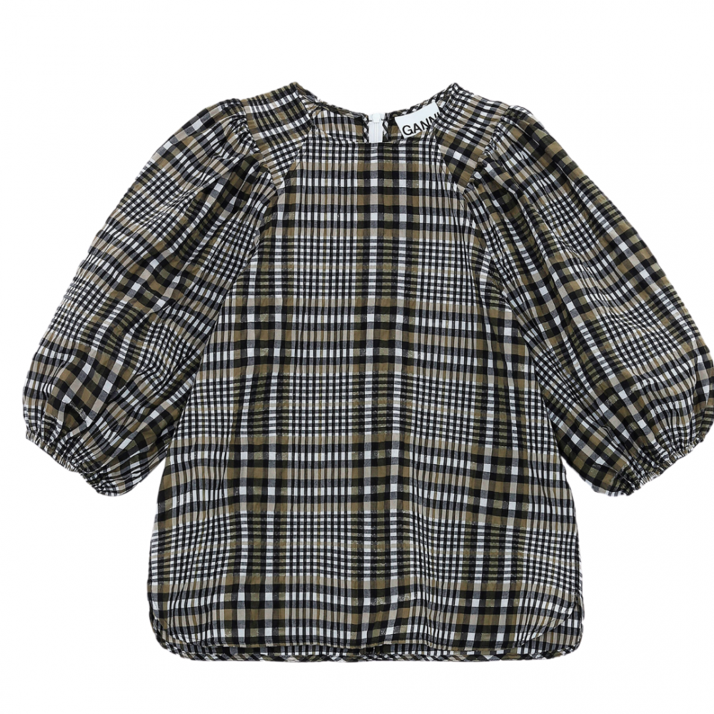 Seersucker Check Blouse Kalamata