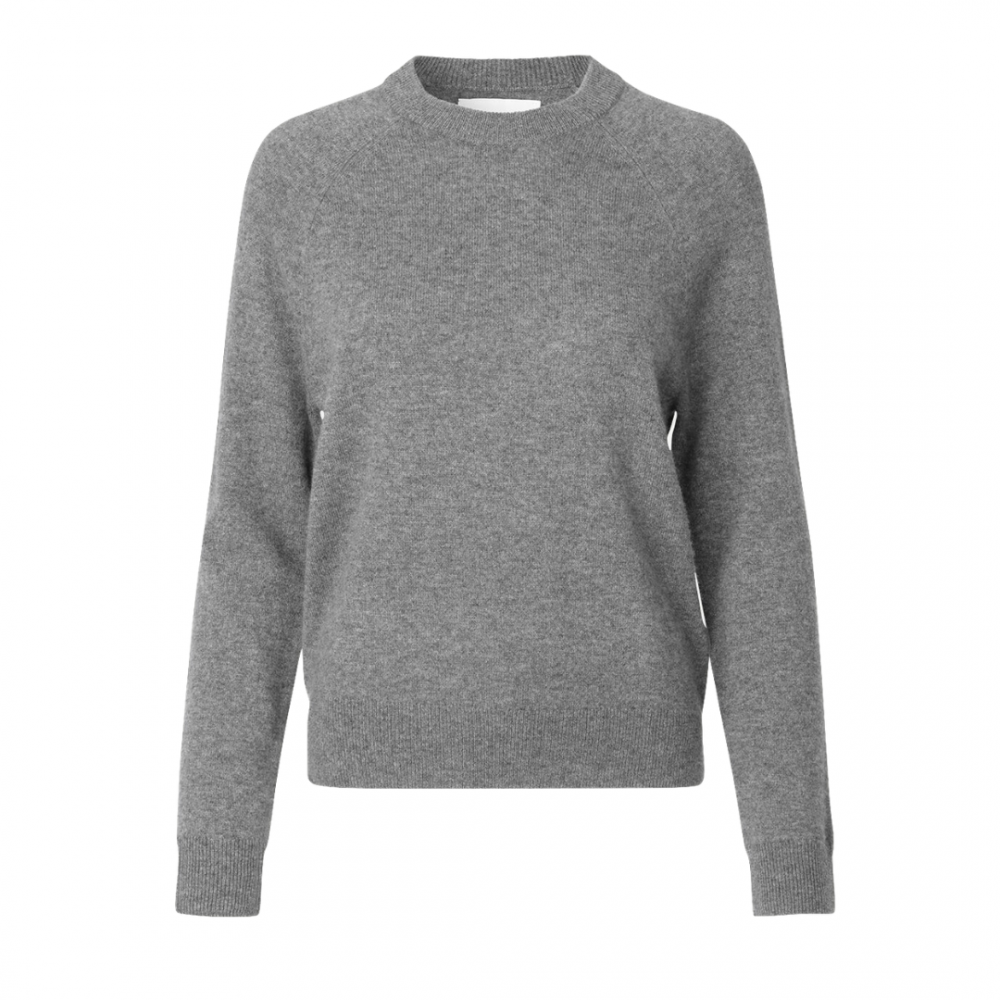 Boston O-Neck Grey Melange
