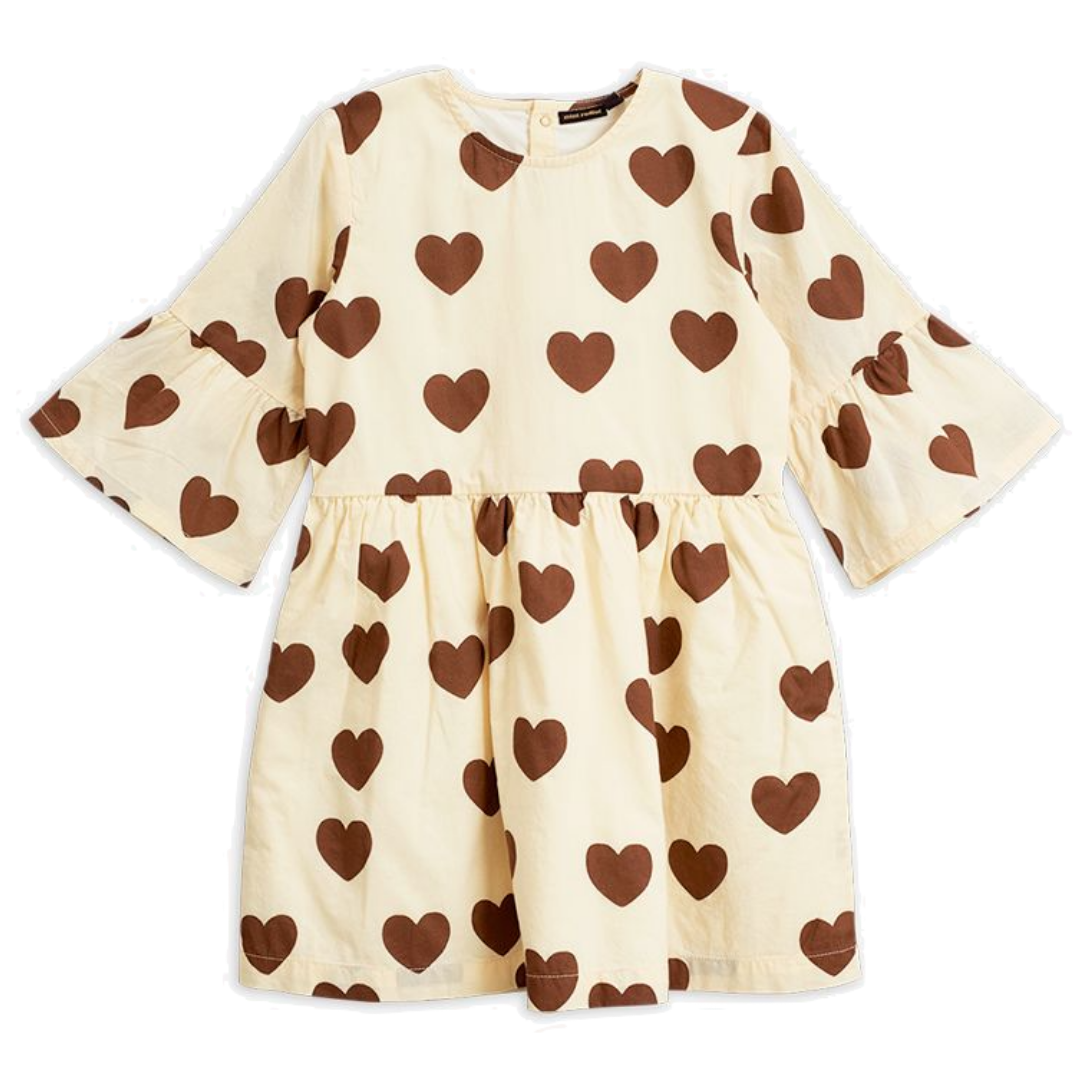 Hearts Woven Dress Offwhite