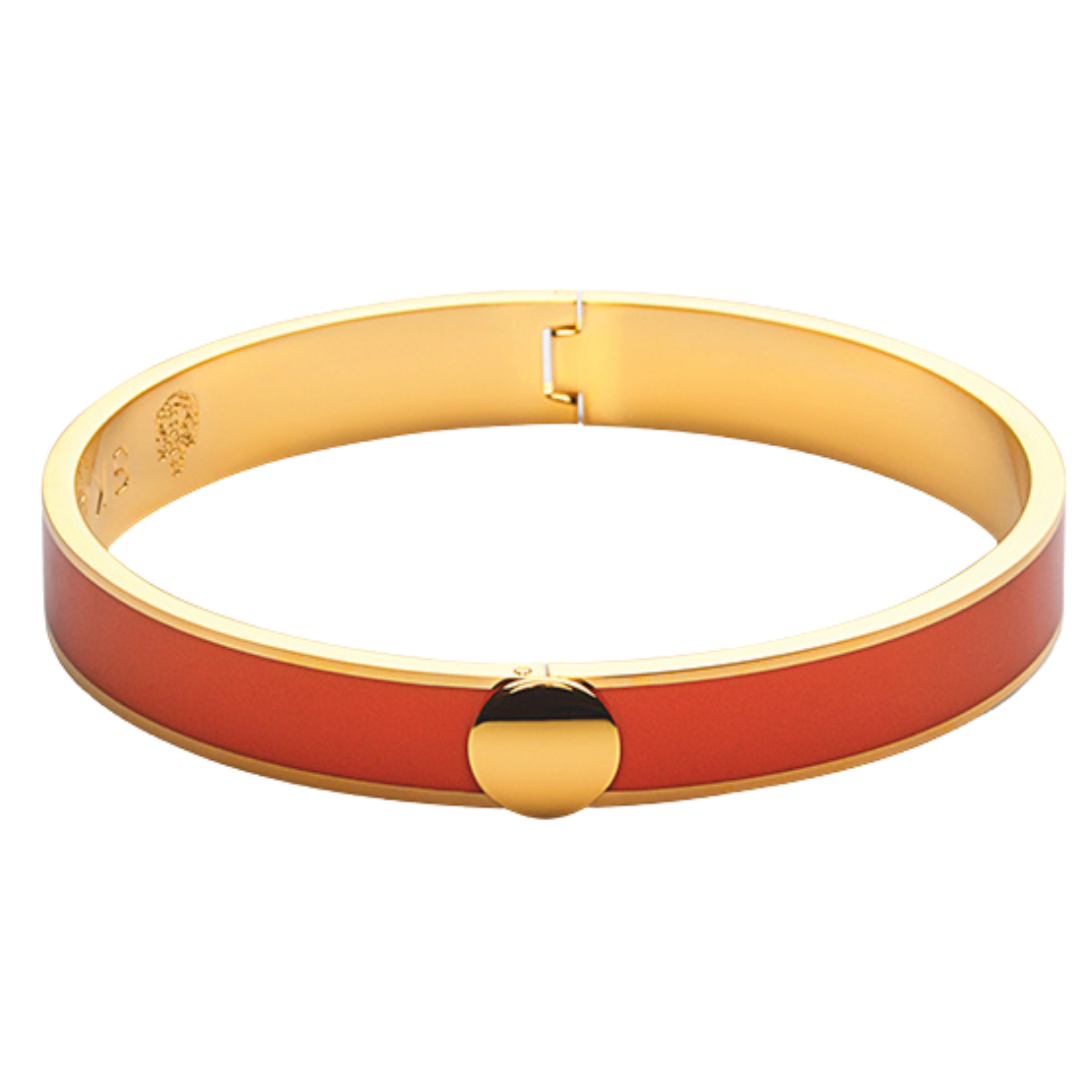 Thin Bangle Bracelet Orange Skultuna