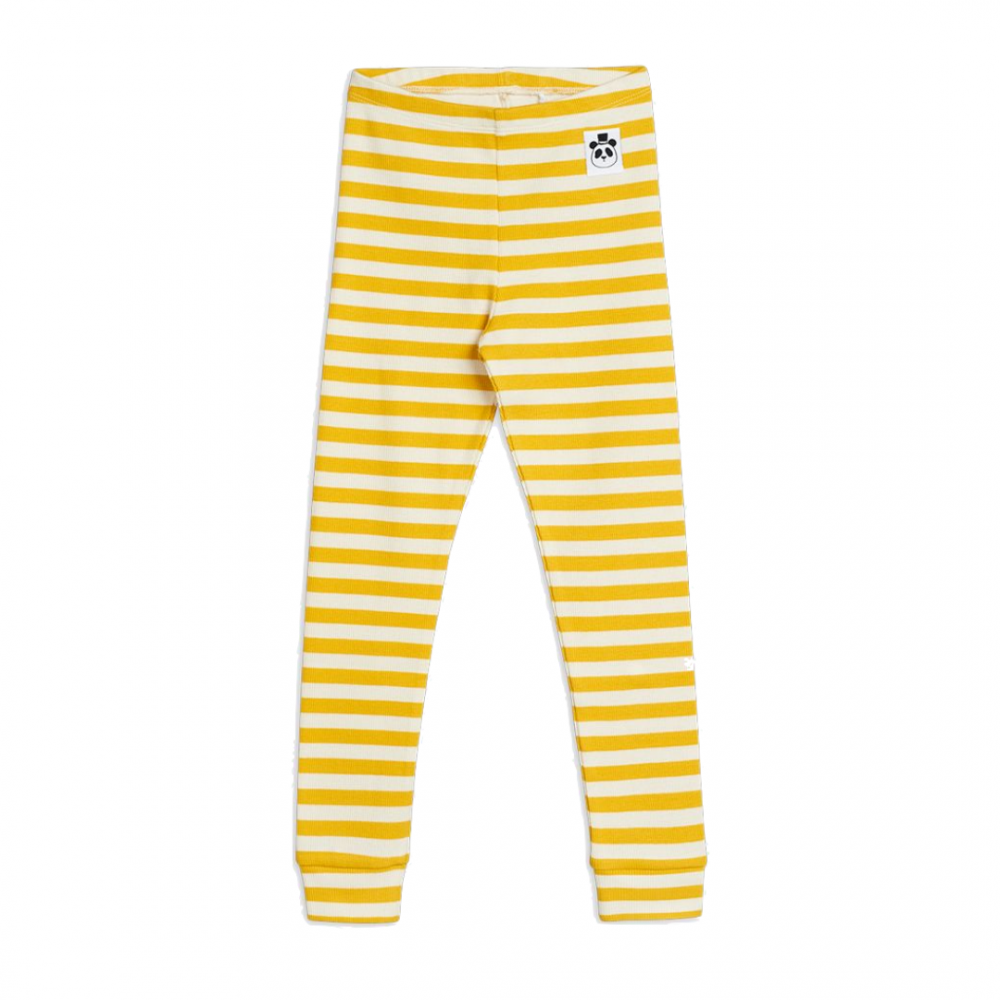Stripe Rib Leggings Yellow