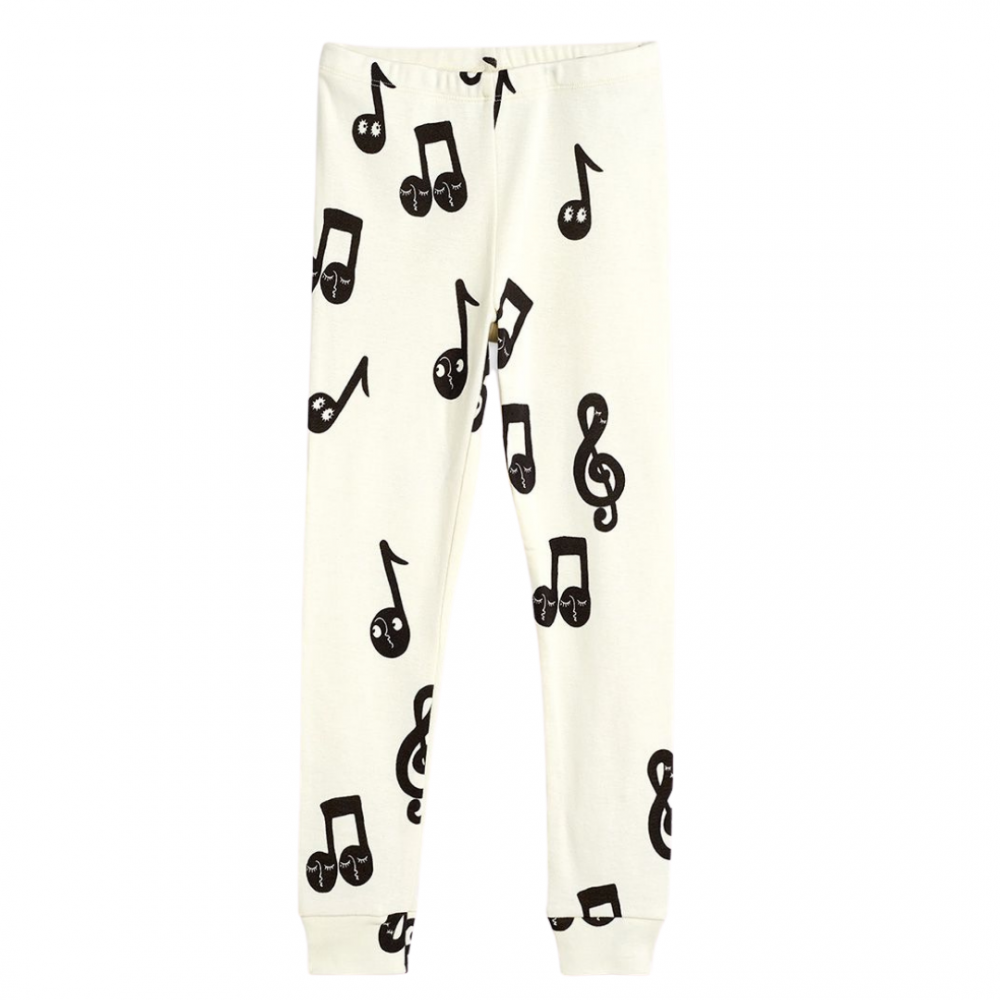 Notes AOP Leggings Offwhite