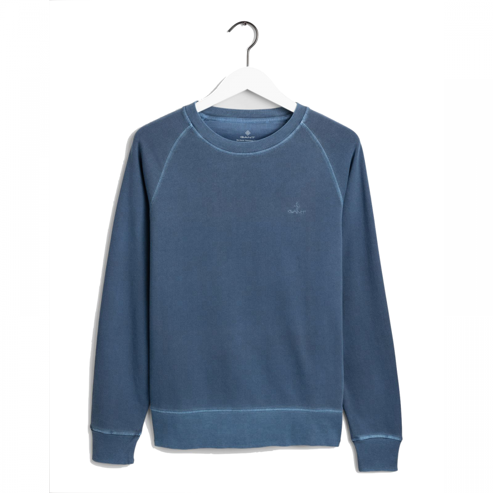 Sunfaded C-Neck Sweat Insignia Blue