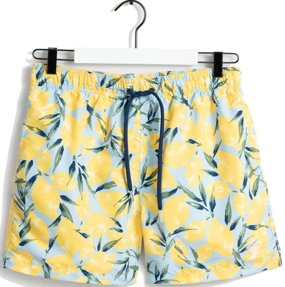 Lemon Print Swim Shorts