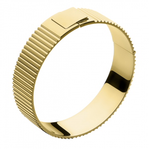 Ribbed Clasp Bangle Gold plated