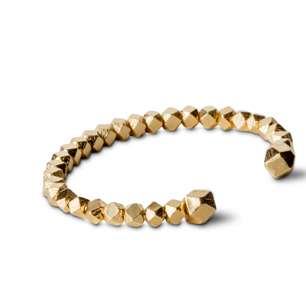 Chunky Bead Bracelet Goldplated