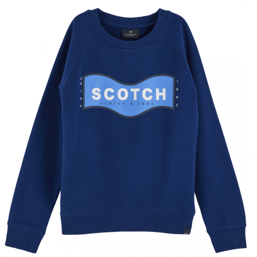 Crew Neck Sweat Blue Shrunk