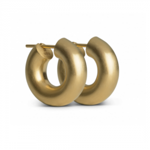 Small Chunky Hoops Goldplated