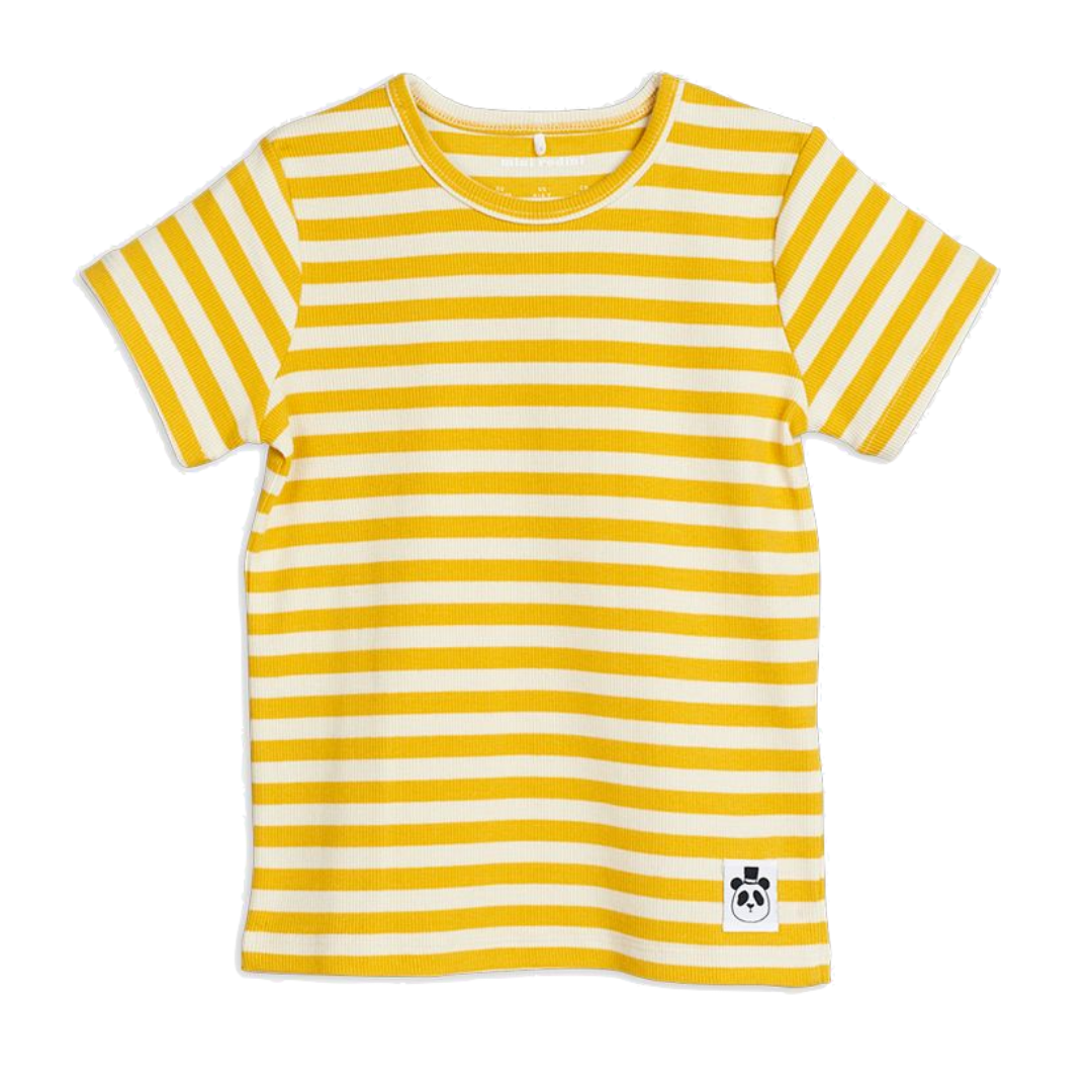 Stripe Rib SS Tee Yellow