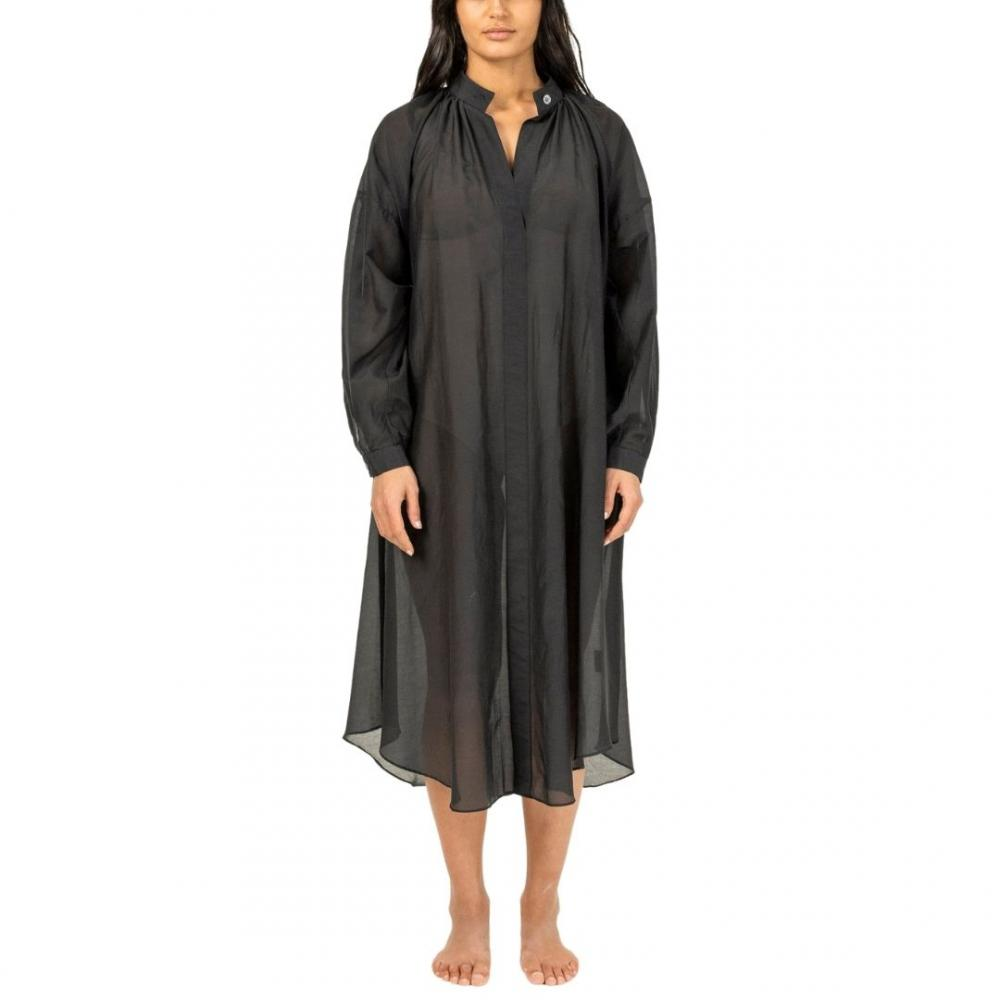 Sheer Caftan Black