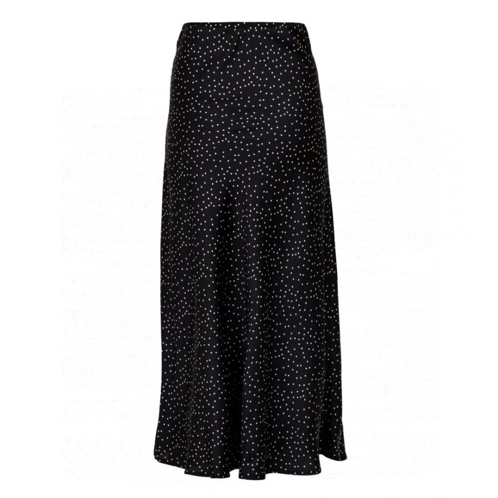 Bovary Small Dots Skirt Black