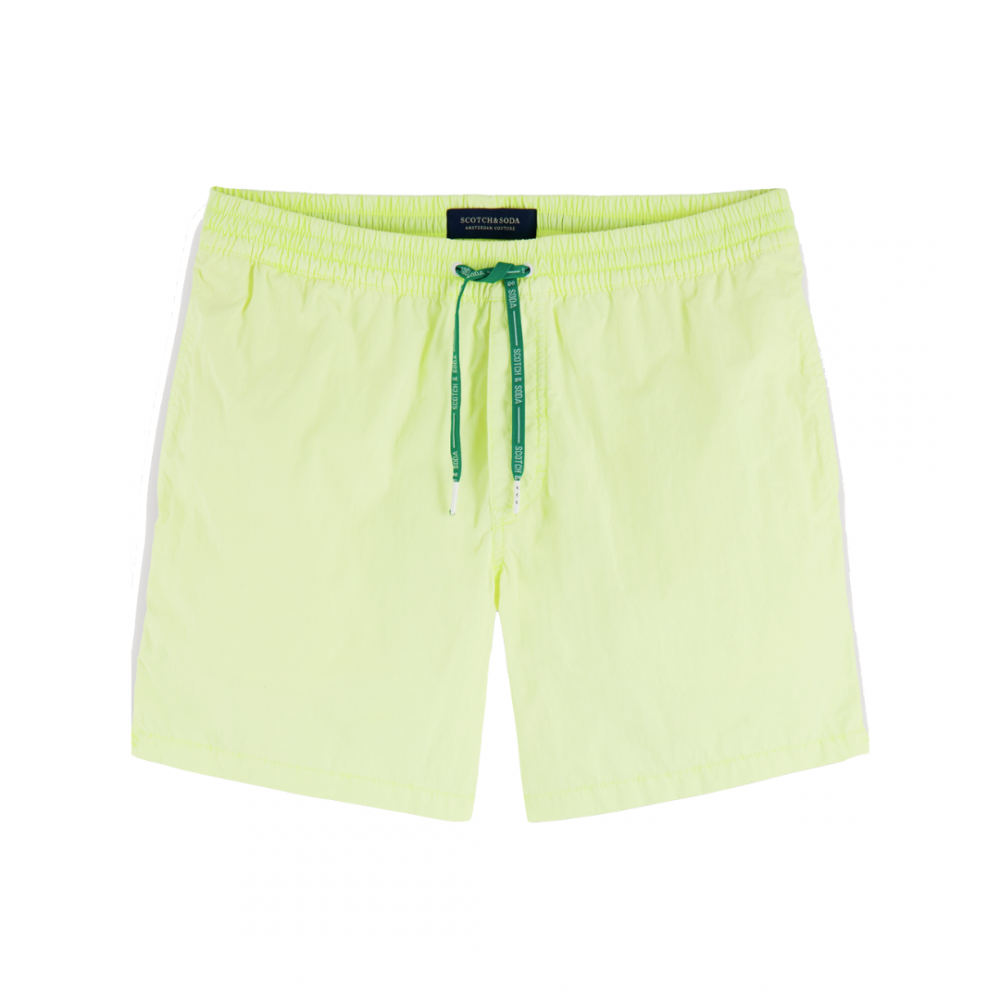 Garment Dyed Shorts Neon Yellow