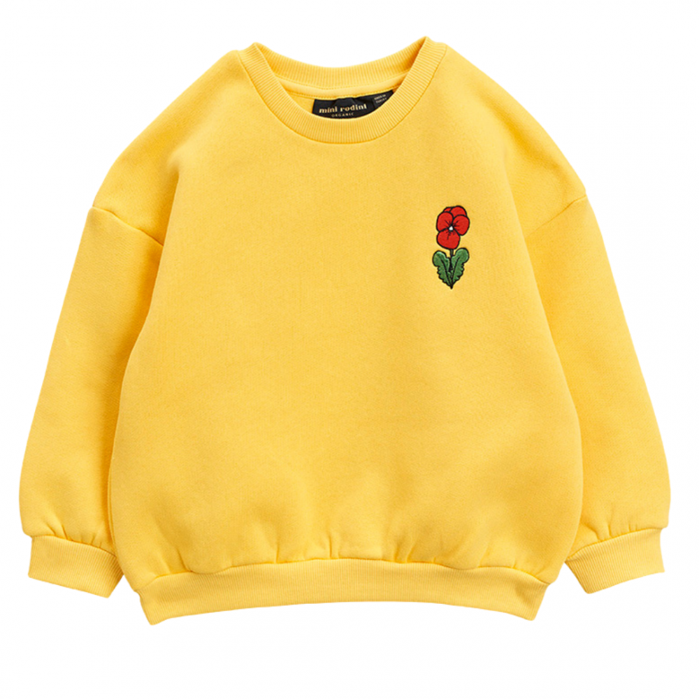 Violas Emb Sweatshirt Yellow