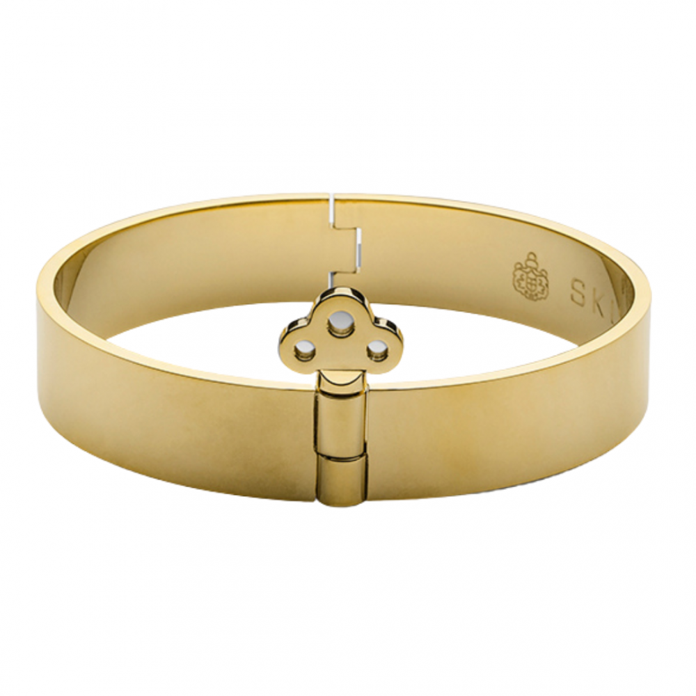 Key Lock Bangle gold