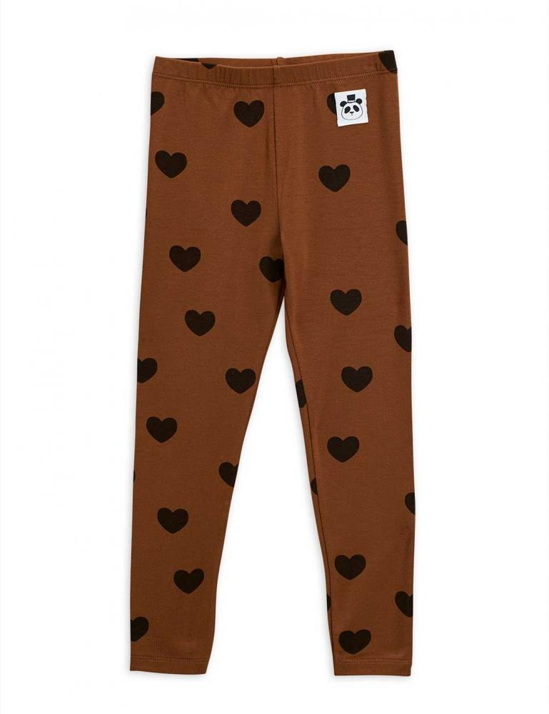 Hearts Leggings Brown
