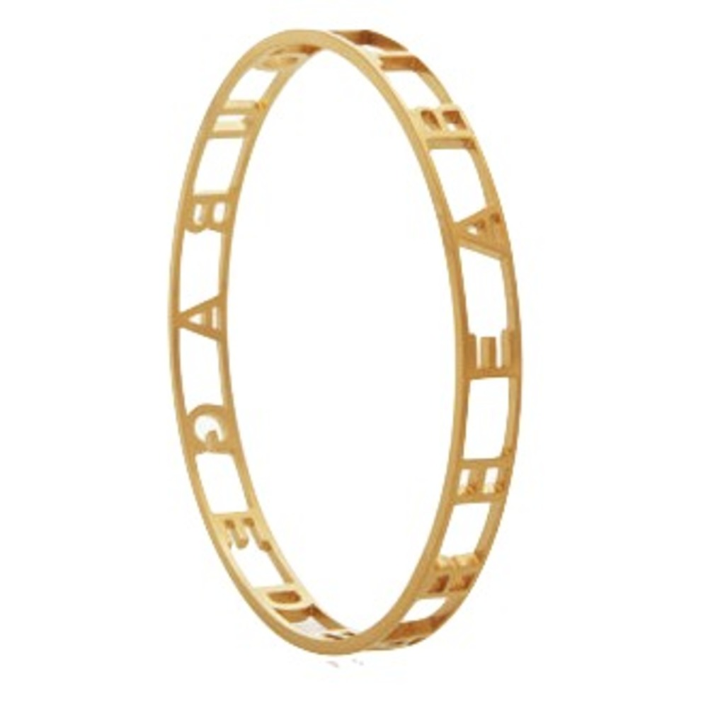 Courage Dear Heart Gold Bangle Andelius Gribbe