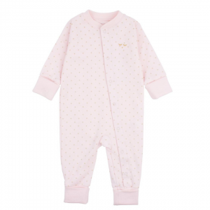 Saturday Overall Baby Pink Dots
