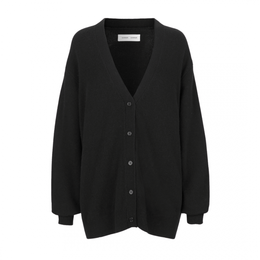 Amaris Cardigan Black Melange