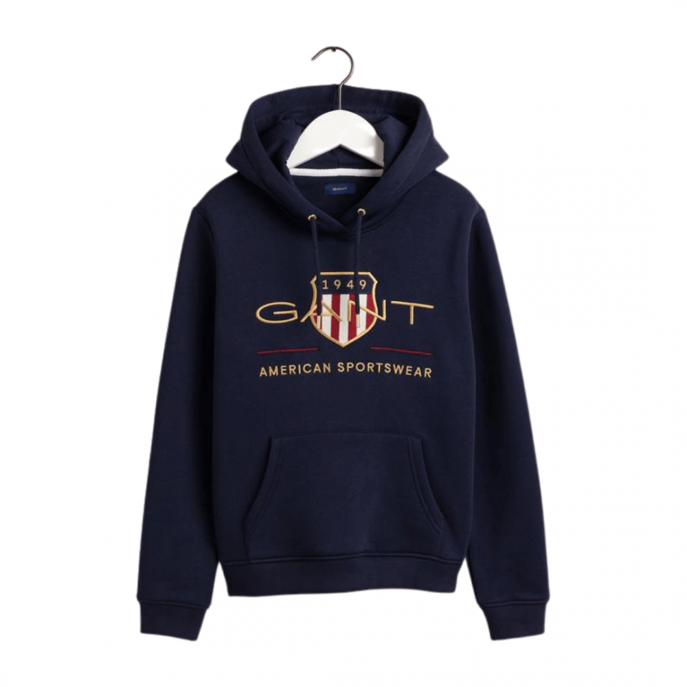 Archive Shield Hoodie Evening Blue