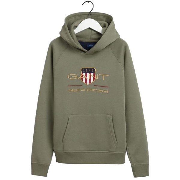 Archive Shield Hoodie Four Leaf Clover