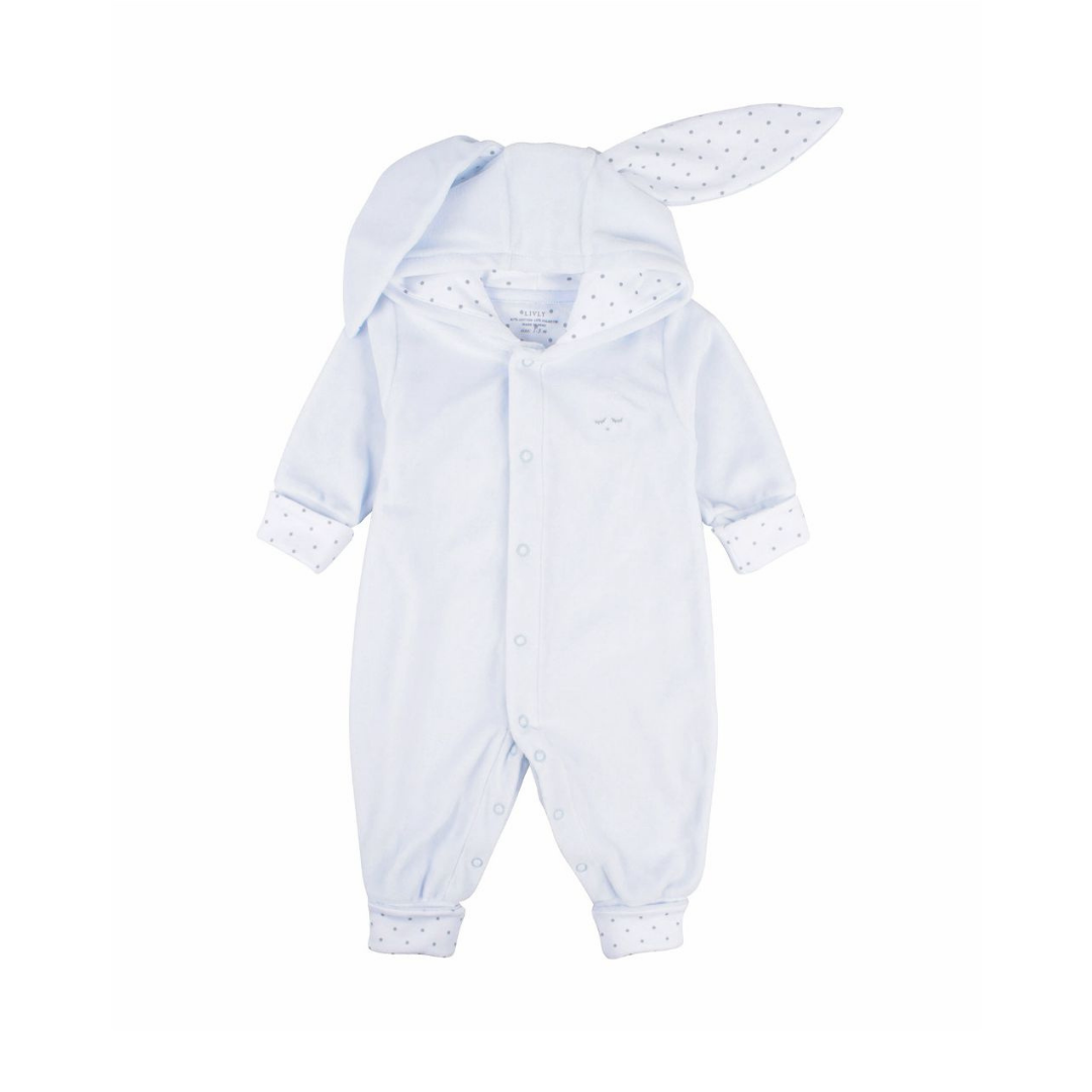 Plush Bunny Overall Blue
