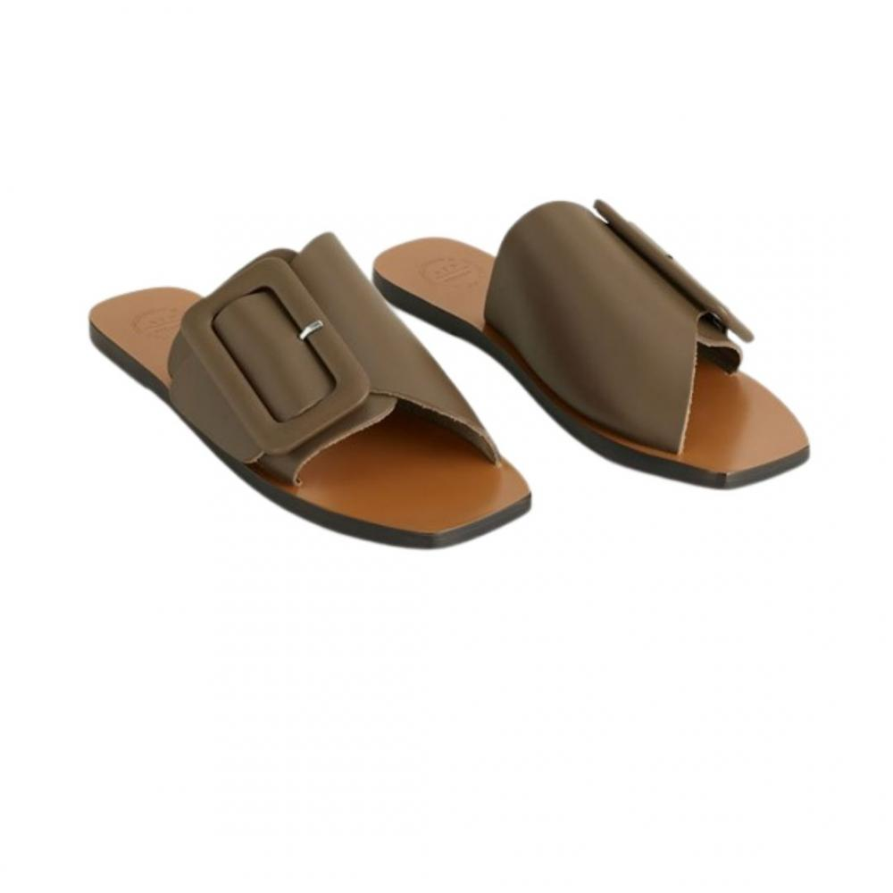 Ceci Sandal Khaki Brown