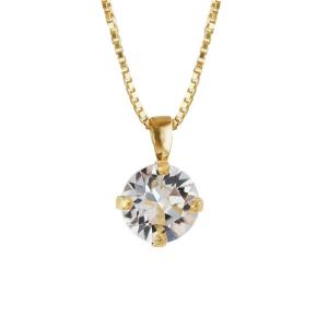 Classic Petite Necklace Gold Crystal