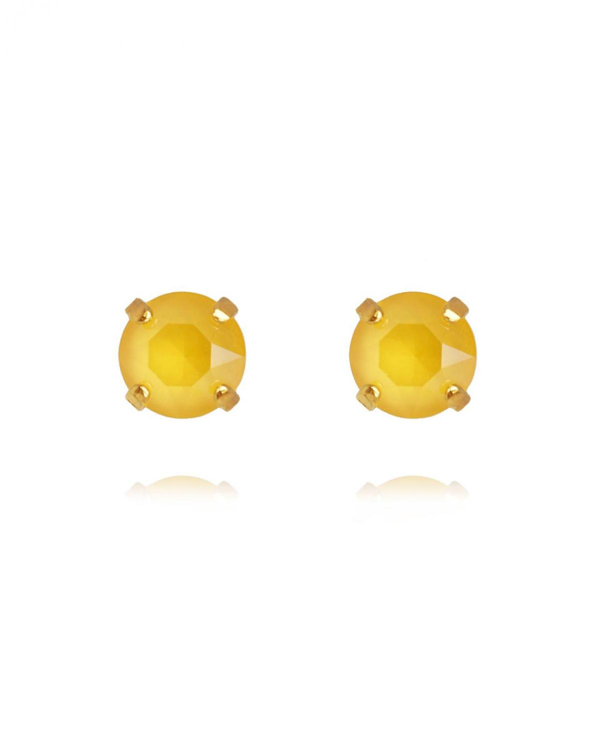 Classic Stud Earrings Gold Buttercup