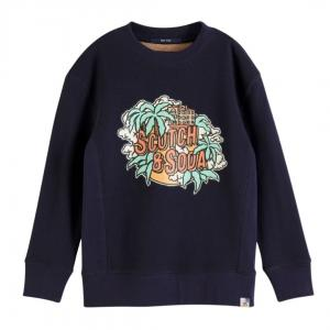 Crewneck Sweat Print Navy