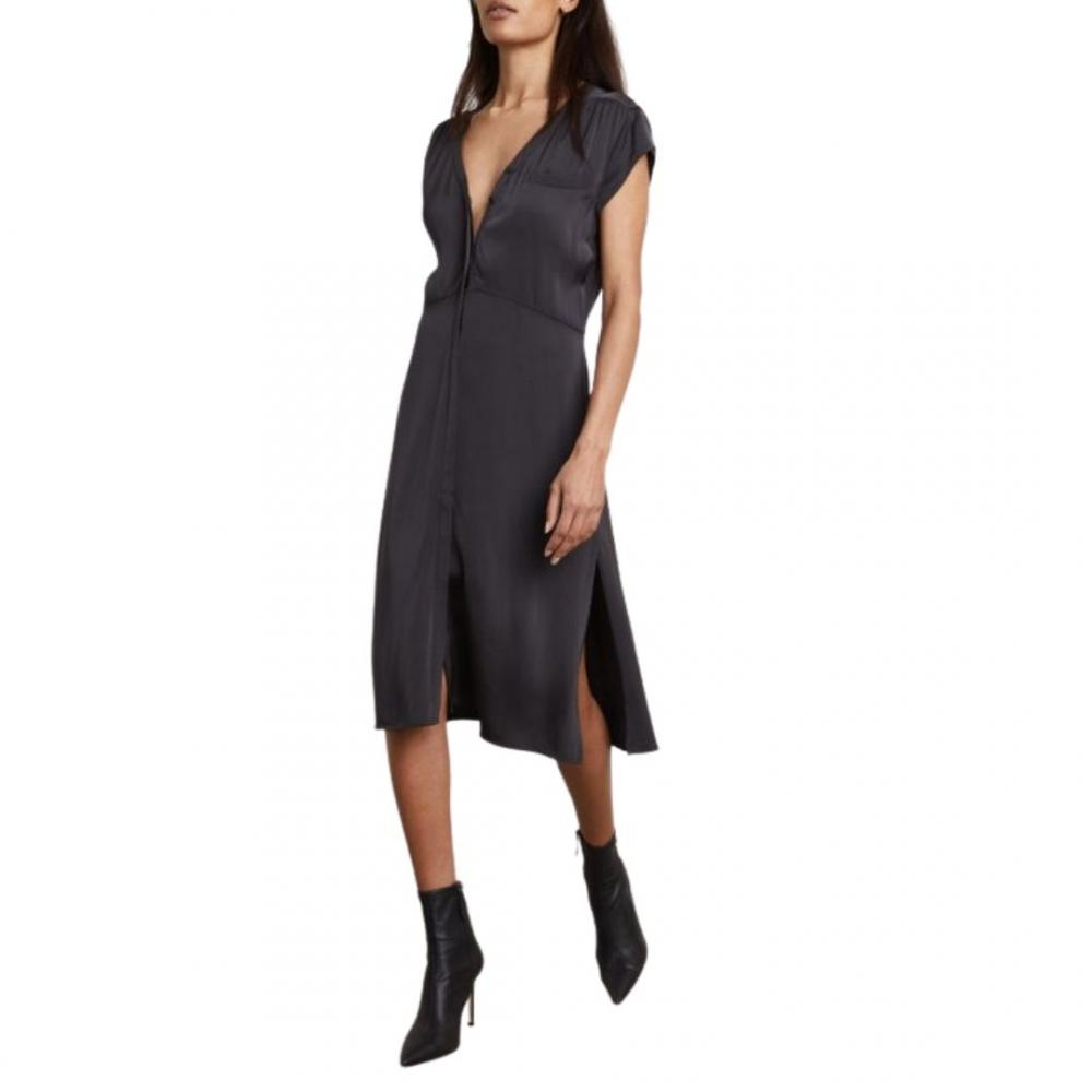 Damon Shirt Dress Charcoal