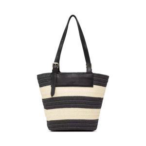 Day Blocked Straw Bag Mini
