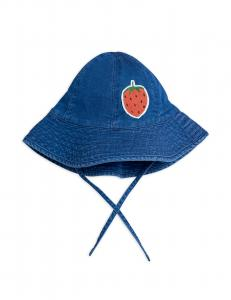 Denim Strawberry Sun Hat