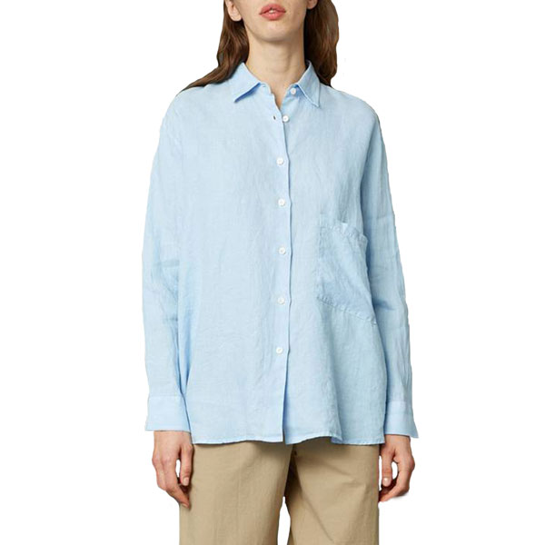 Elma Linen Shirt Blue